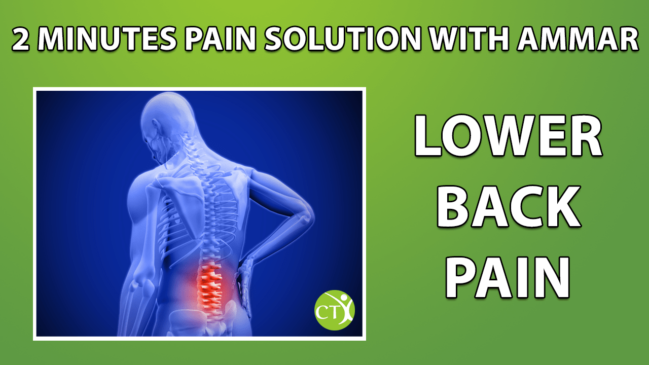 Lower back pain solution