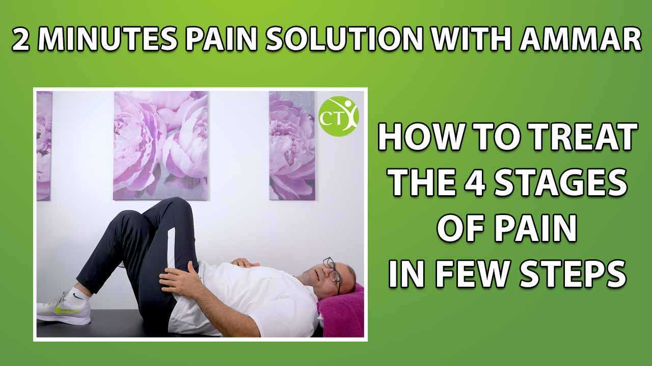 How to Treat the 4 stages of Pain in a few steps