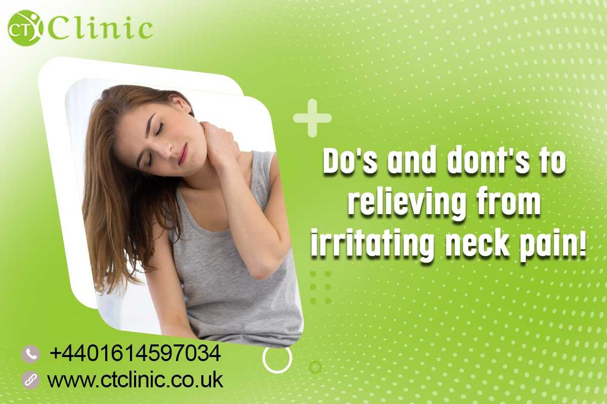 do's and dont's to relieving from irritating neck pain