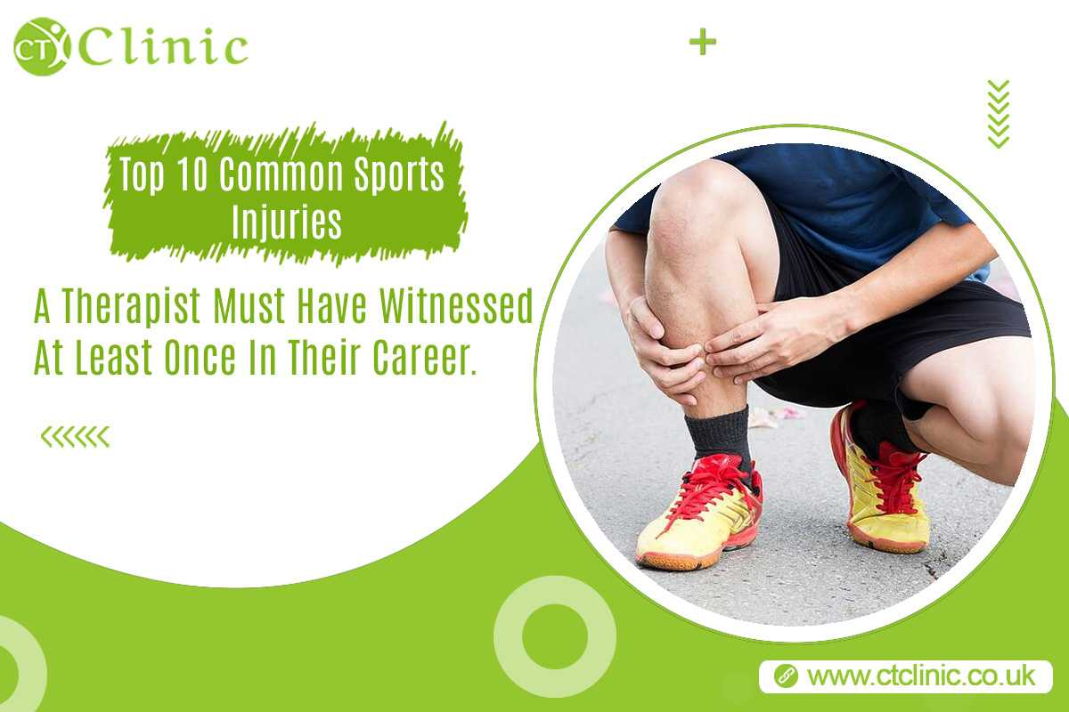 Top 10 Common Sports Injuries A Therapist Must Have Witnessed At Least Once In Their Career.